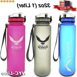 32oz sports water bottle bpa free non