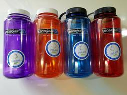 Nalgene 32oz Wide Mouth Tritan BPA Free Water Bottle, 8 Colo