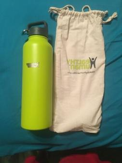 Healthy Human 40 oz Insulated Steel Water Bottle Stein