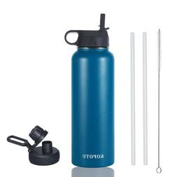 40 oz Stainless Steel Water Bottle Insulated Wide Mouth Cap