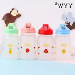 480ml Cute Glass <font><b>Water</b></font> <font><b>Bottle</