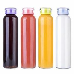 4pack glass water bottle juice glass bottle