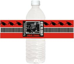 50   CLASSIC  BLACK AND WHITE PHOTO WATER BOTTLE LABELS  WAT