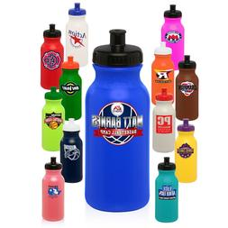 50 Personalized BPA Free 20 oz. Sports Water Bottles Printed