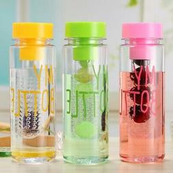 500ML Plastic Fruit Drink Water Bottle Lightweight Reusable