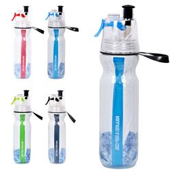 500ML Running Cycling Water Drink Bottle Mist Spray Camping