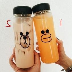 500ML Spots Portable Clear Plastic Sport Travel Fruit Juice