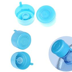 US 5x Reusable Water Bottle Snap On Cap Non-Spill 55mm 3-5 Gallon Water Jug Lid