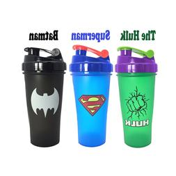 600ML Super Heroes Shaker <font><b>Bottle</b></font> With Wh