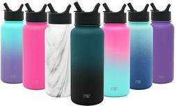 Vacuum Insulated Summit Water Bottle Straw Lid Wide Mouth 64