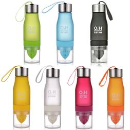 650ml H20 Water Bottle Portable Juice Lemon Infuser Fruit Ou