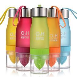 650ml H2O Fruit Lemon Juice Cup Infusing Infuser Water Healt