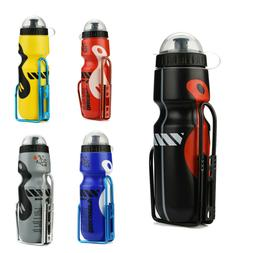 650ML Outdoor Water Bottle & Holder Cage Rack Mountain Cyc