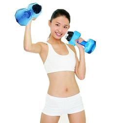 74oz-Blue-Travel Dumbbell Shaped Sport Water Cup Kettle Fit