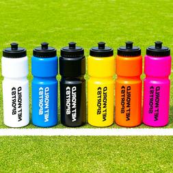 750ml Water Bottles - VARIETY OF COLORS - BPA Free Plastic S
