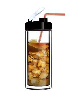 Glass Double-Wall Tumbler by Sun's Tea    18oz Travel Mug