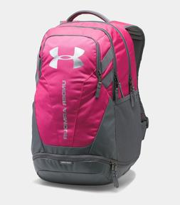 Under Armour Hustle 3.0 Backpack, Tropic Pink & Silver, One