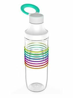 Zak Designs 0025-R580 HydraTrak Water Bottles 24oz Clear-Rai