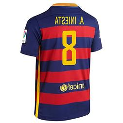 Nike A. Iniesta #8 Barcelona Home Soccer Jersey 2015/2016 YO