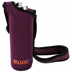 IColor Accessories Water Bottle Carrier Sleeve Neoprene Hold