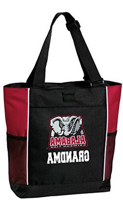 Broad Bay Alabama Grandma Tote Bags Red University of Alabam