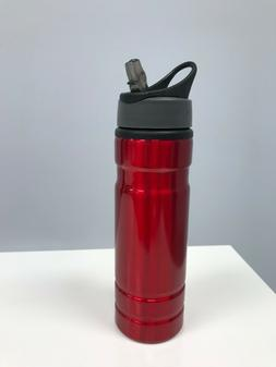 Aluminum Water Bottle 20oz Red
