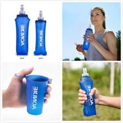 AONIJIE Portable 250/500ML Foldable Soft Flask TPU Squeeze W