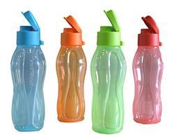 Tupperware Aquasafe Fliptop Bottle , Set Of 4