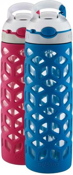 Contigo Ashland 20oz Dishwasher Safe Glass Water Bottle Colo