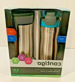 Contigo AUTOSEAL Chill Water Bottle, 20 oz, SS/Scuba & AUTOS