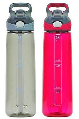 Contigo Autospout Addison Water Bottle, 24 oz - Sangria & Sm