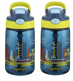 Contigo AUTOSPOUT Straw Gizmo Flip Kids Water Bottle, 14 oz.