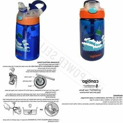 Contigo Autospout Straw Gizmo Flip Kids Water Bottle, 14 Oz,