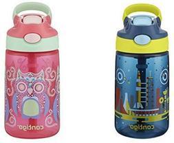 Contigo AUTOSPOUT Straw Gizmo Flip Kids Water Bottle, 14 oz,