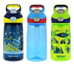 Contigo 14oz Autospout Striker Kids Water Bottle, Granny Smi