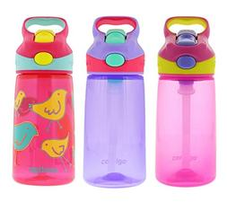 Contigo 14oz Autospout Striker Kids Water Bottle, Petal Pink