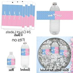 Baby Gender Reveal Party Water Bottle Labels 24 Ct PARTY PIN