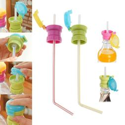 Baby Spill Proof Water Bottle Twist Cap With Straw Drinking