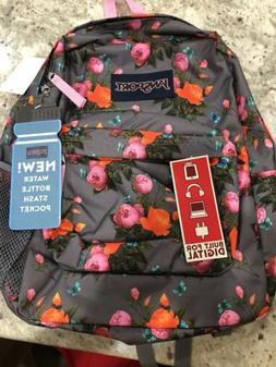 Jansport backpack.With holder For phone, Laptop,Tablet,Heads