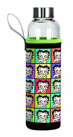 Spoontiques Betty Boop Glass Bottle with Sleeve, , Multi