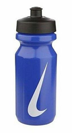 Nike Big Mouth Water Bottle 650ml 22 oz Blue/White Logo Gym