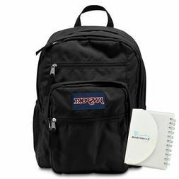 JanSport Big Student Backpack 34L - Black w/ Memo Pad