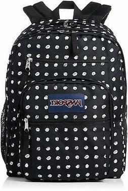 JanSport Big Student Backpack - Black Sketch Dot - Oversized