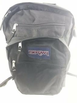 Jansport BIG Student Black Backpack NWT 5 Pocket Plus Water