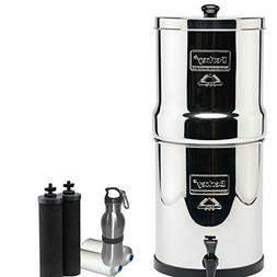 Big Berkey Water Filter 2.5 Gallon System Bundle: 2 Black BB