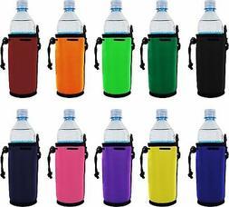 Blank Neoprene Water Bottle Coolie with Full Bottom