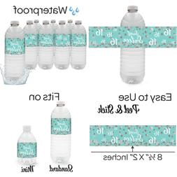 Blue & SILVER 16Th Birthday Sweet Sixteen Party Water Bottle