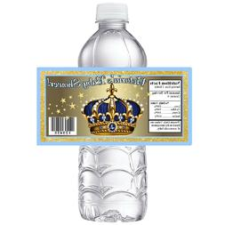 BLUE GOLD ROYAL PRINCE CROWN BABY SHOWER PARTY FAVORS GLOSSY