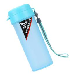 Blue Sports Water with Handle Drinking Bottle for Running Ca