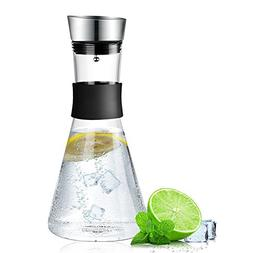 Borosilicate Glass Pitcher with Stainless Steel Flow Lid Lar
